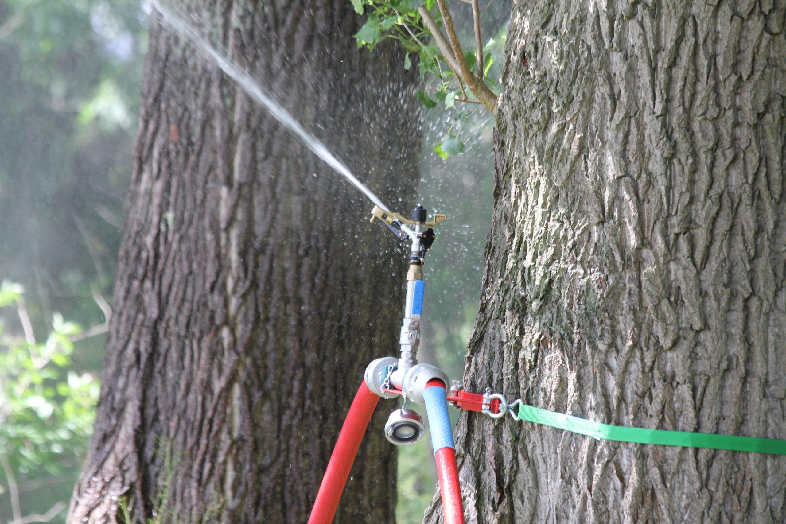 circular sprinkler for valleys