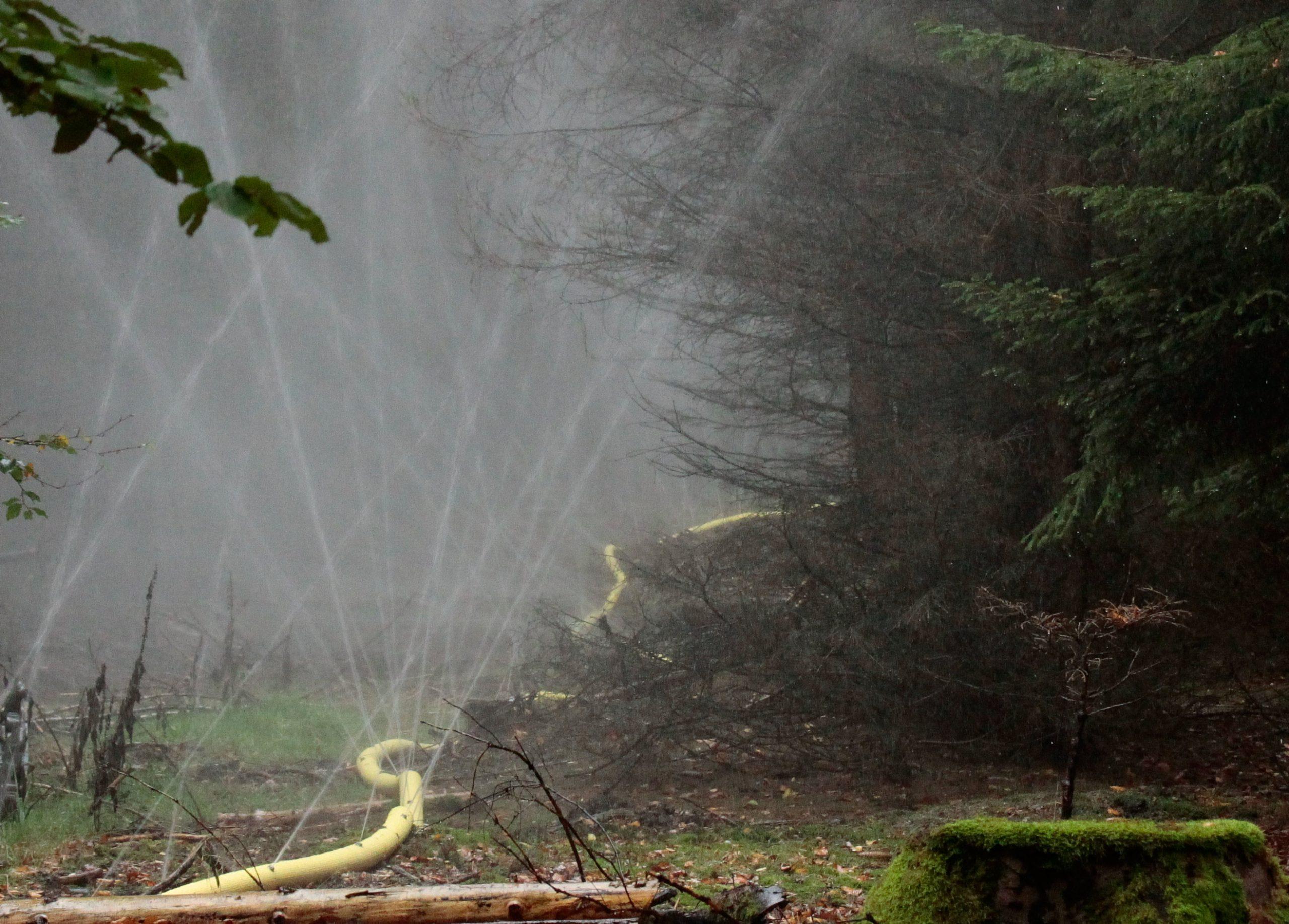 düsenschlauch zur Waldbrandbekämpfung und abriegelung